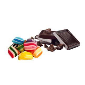 Snacks og chokolade